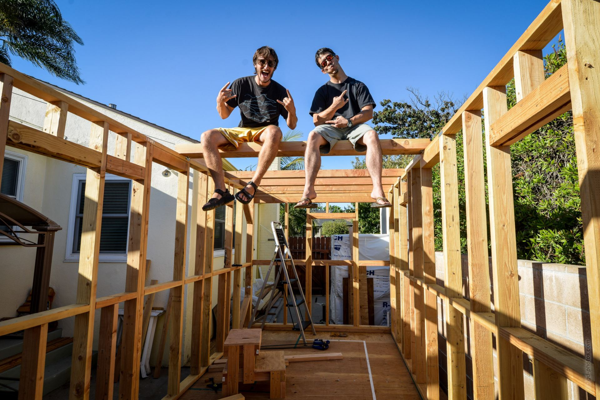 Strapping And Loft Framing Tiny House Giant Journey
