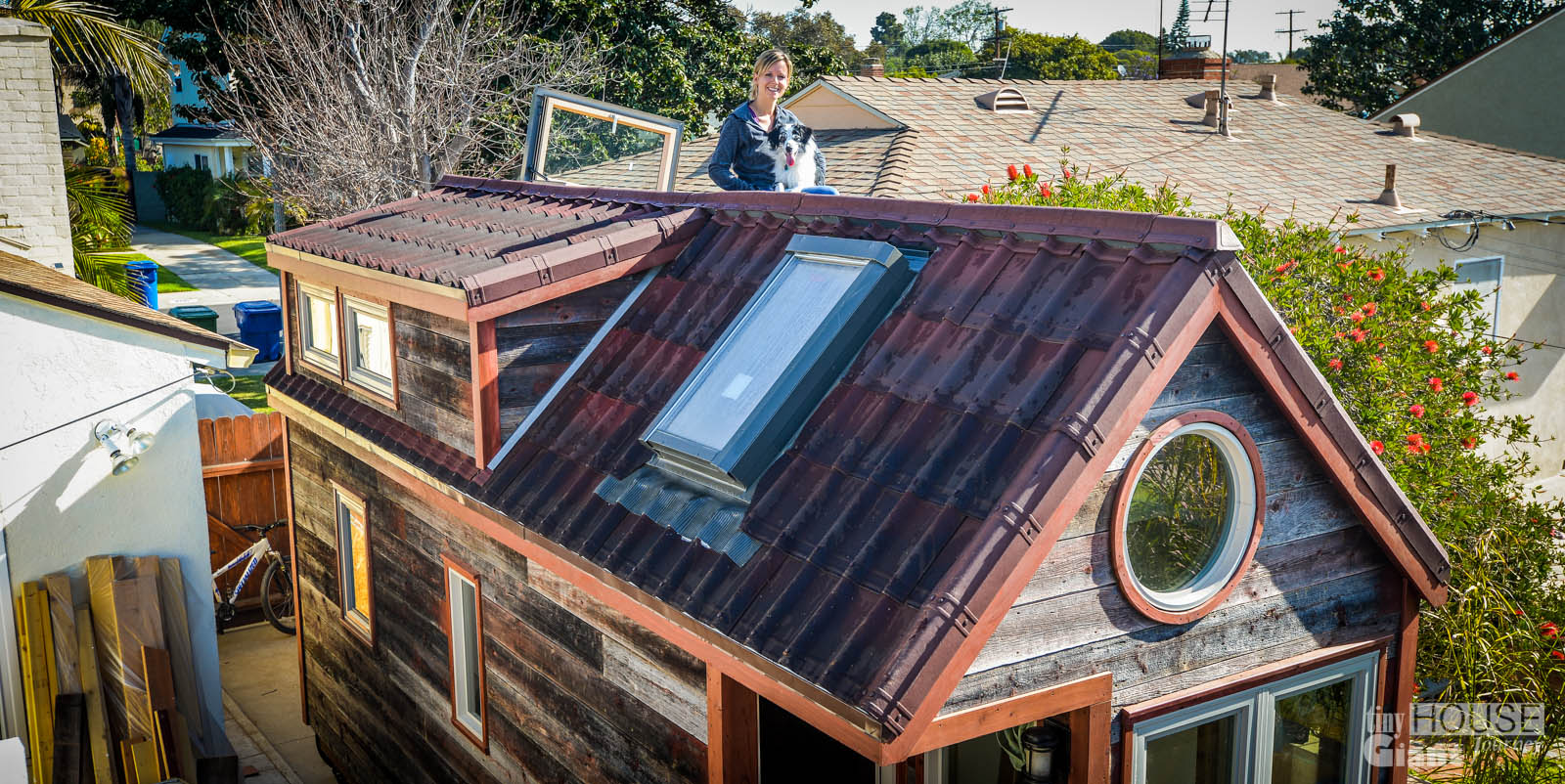 Roofing tiny house giant journey for Small house roof design