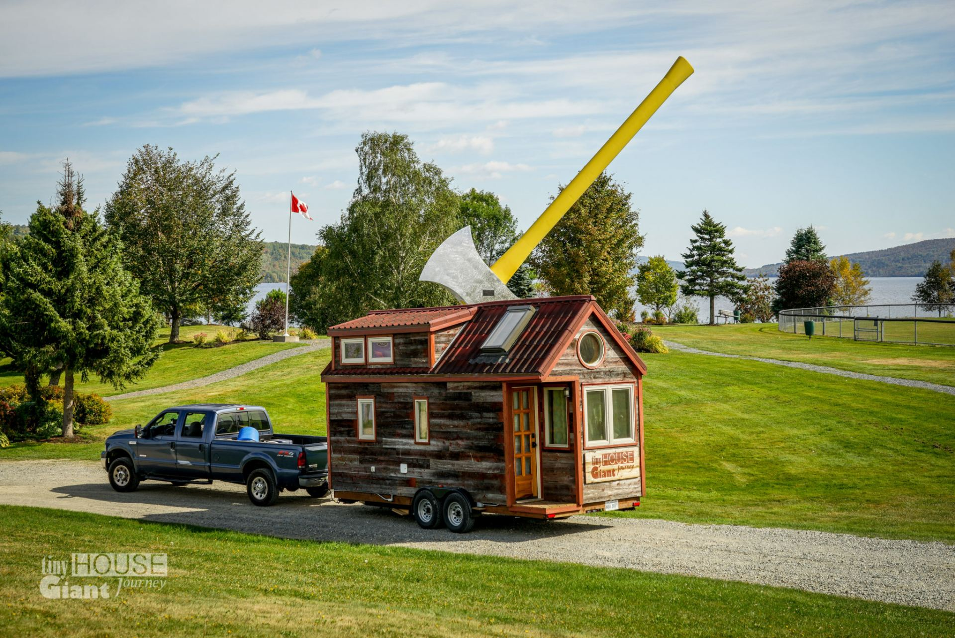 worlds largest axe new brunswick - Largest Tiny House On Wheels