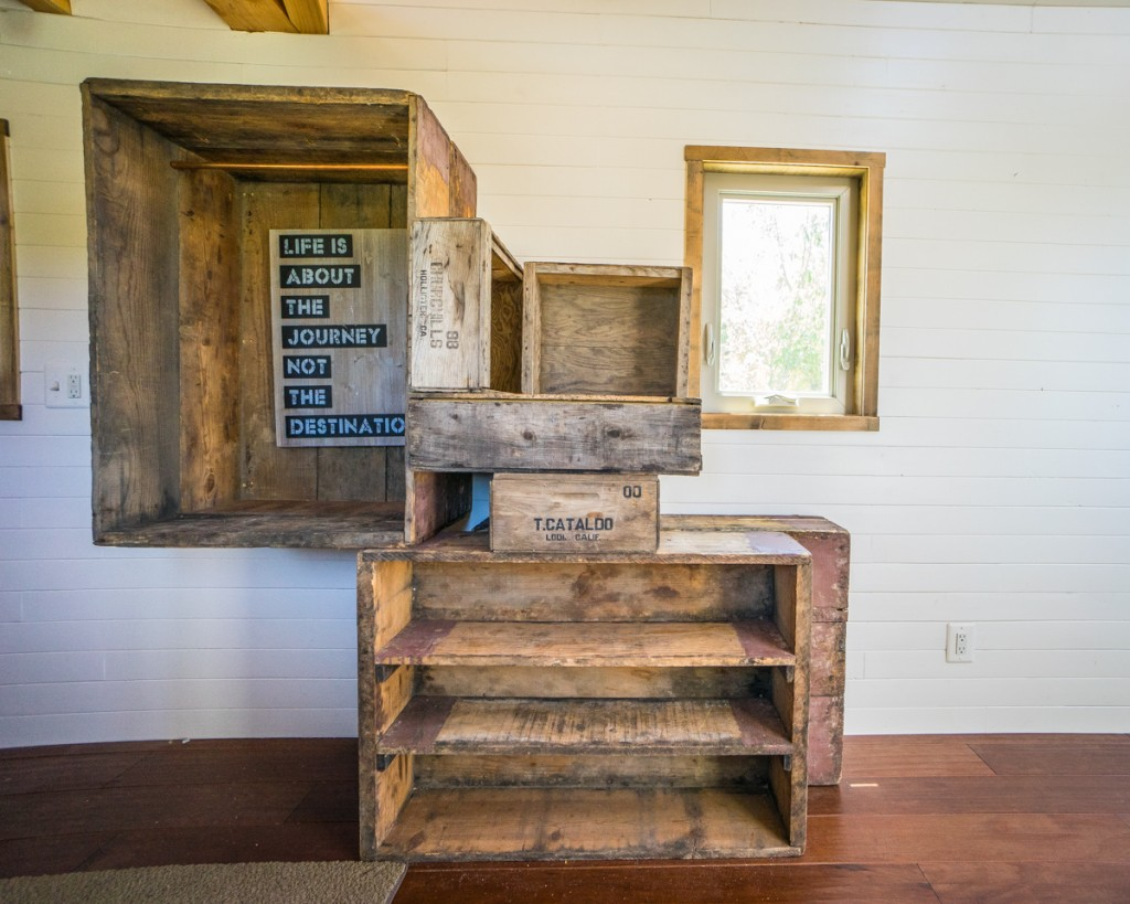 Reclaimed crate staircase 2