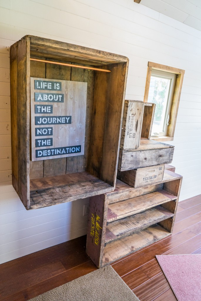 reclaimed crate staircase 3