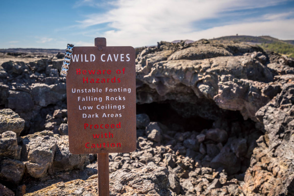 Craters of the Moon Cave Warning - 0001
