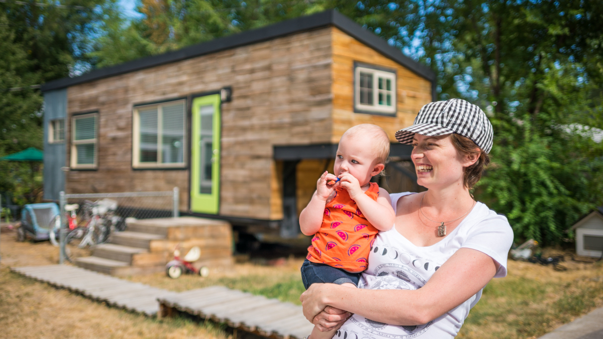 Tiny House, Two Babies & A Great Dane!