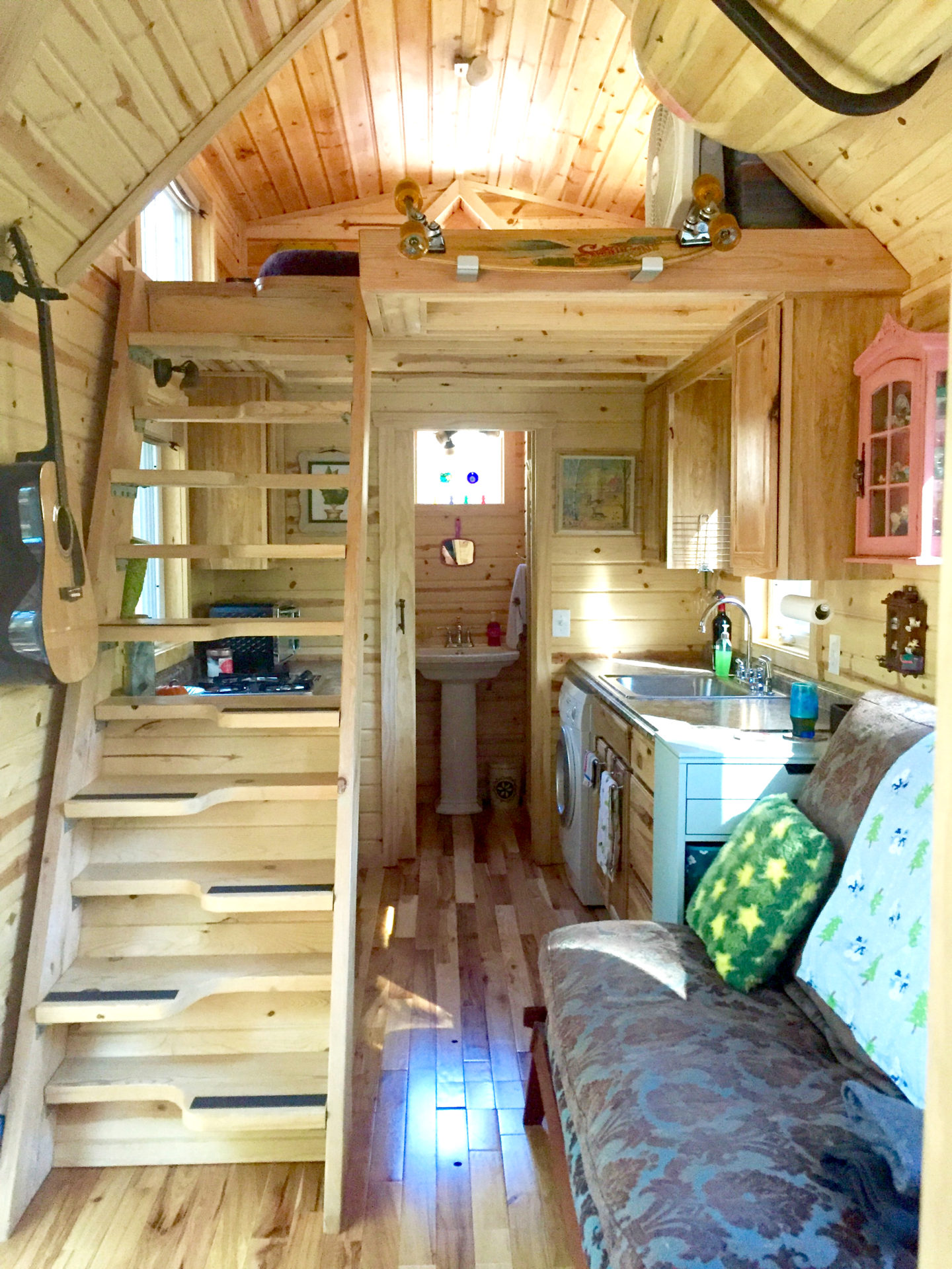 Tiny Bathroom Ideas Nicki S Colorful Victorian Tiny House After One Year