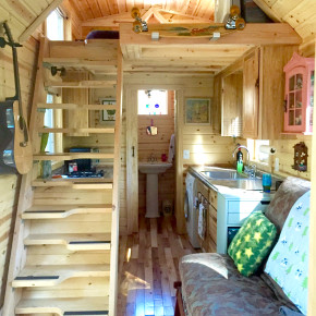 Nicki's Colorful Victorian Tiny House After One Year