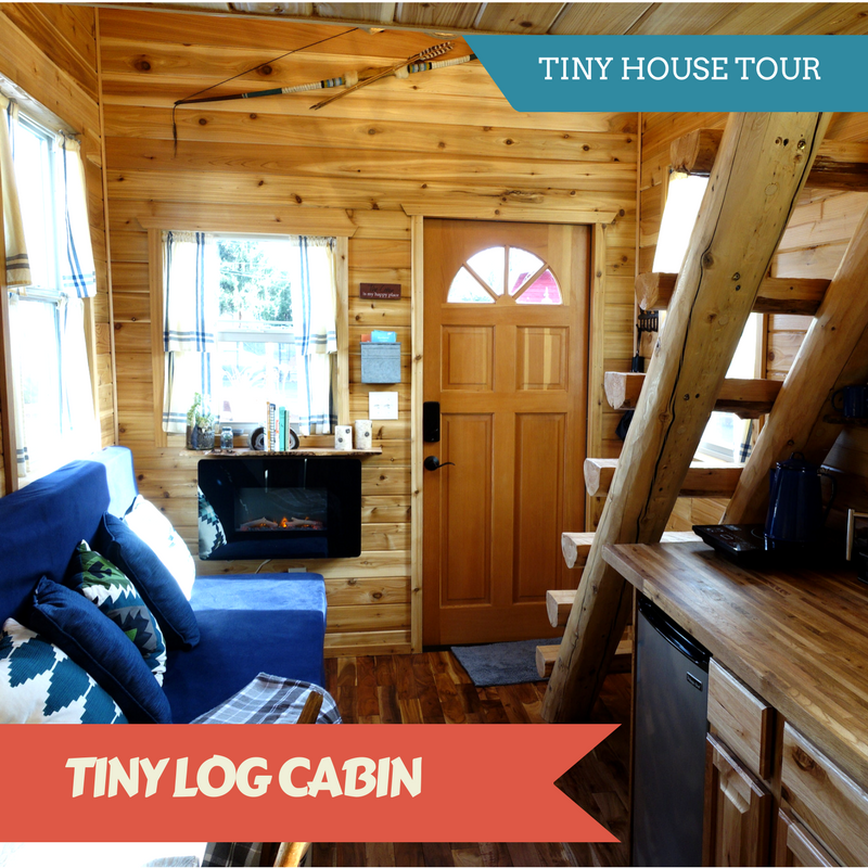 Tiny Mobile Log Cabin