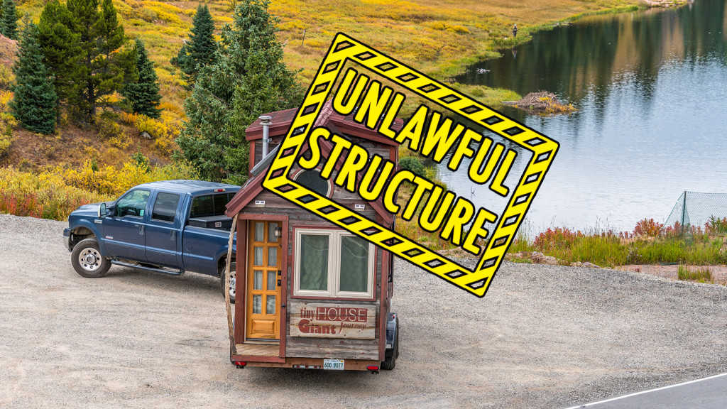Tiny House Eviction Unlawful Structure