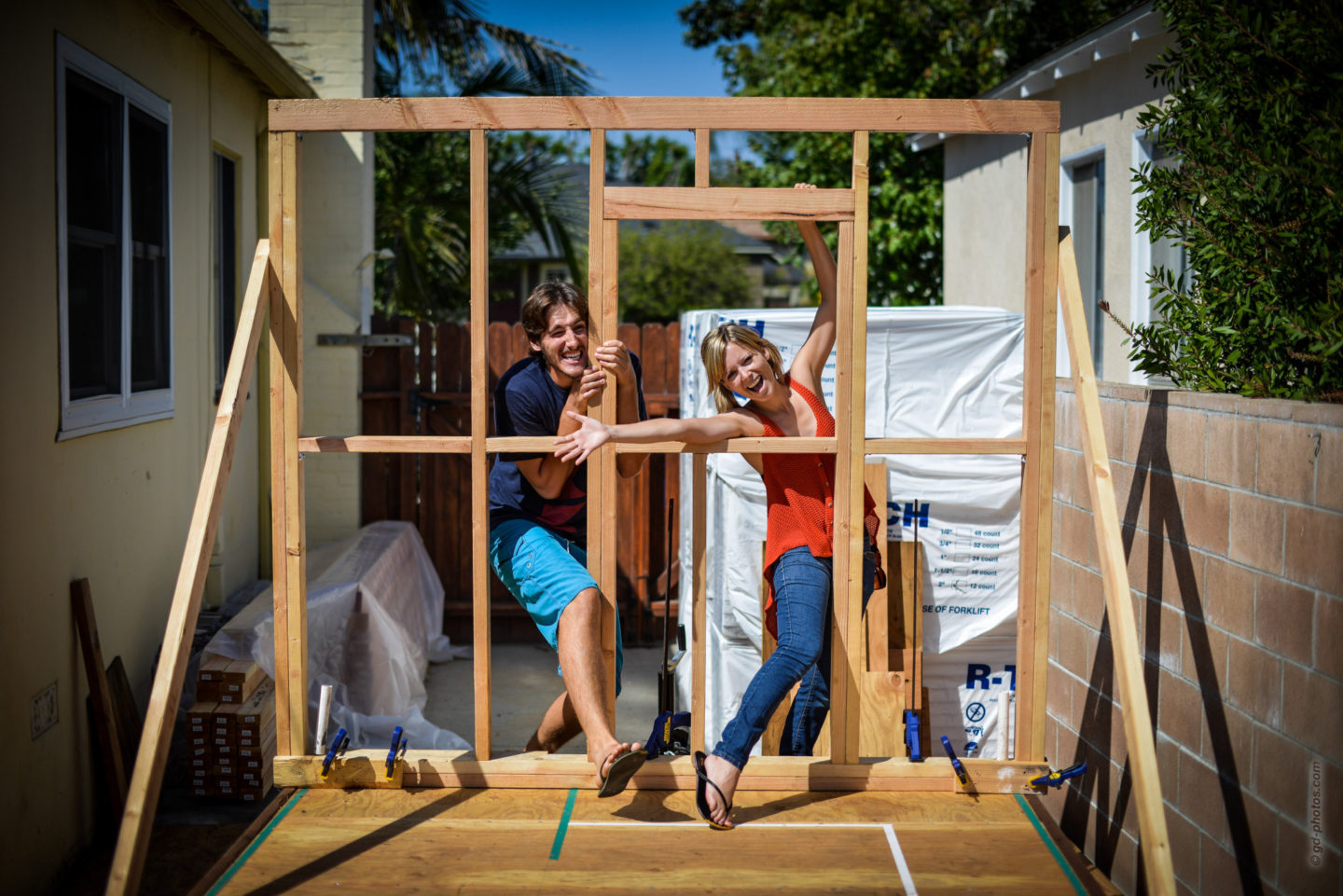 Tiny House Framing: The First Wall