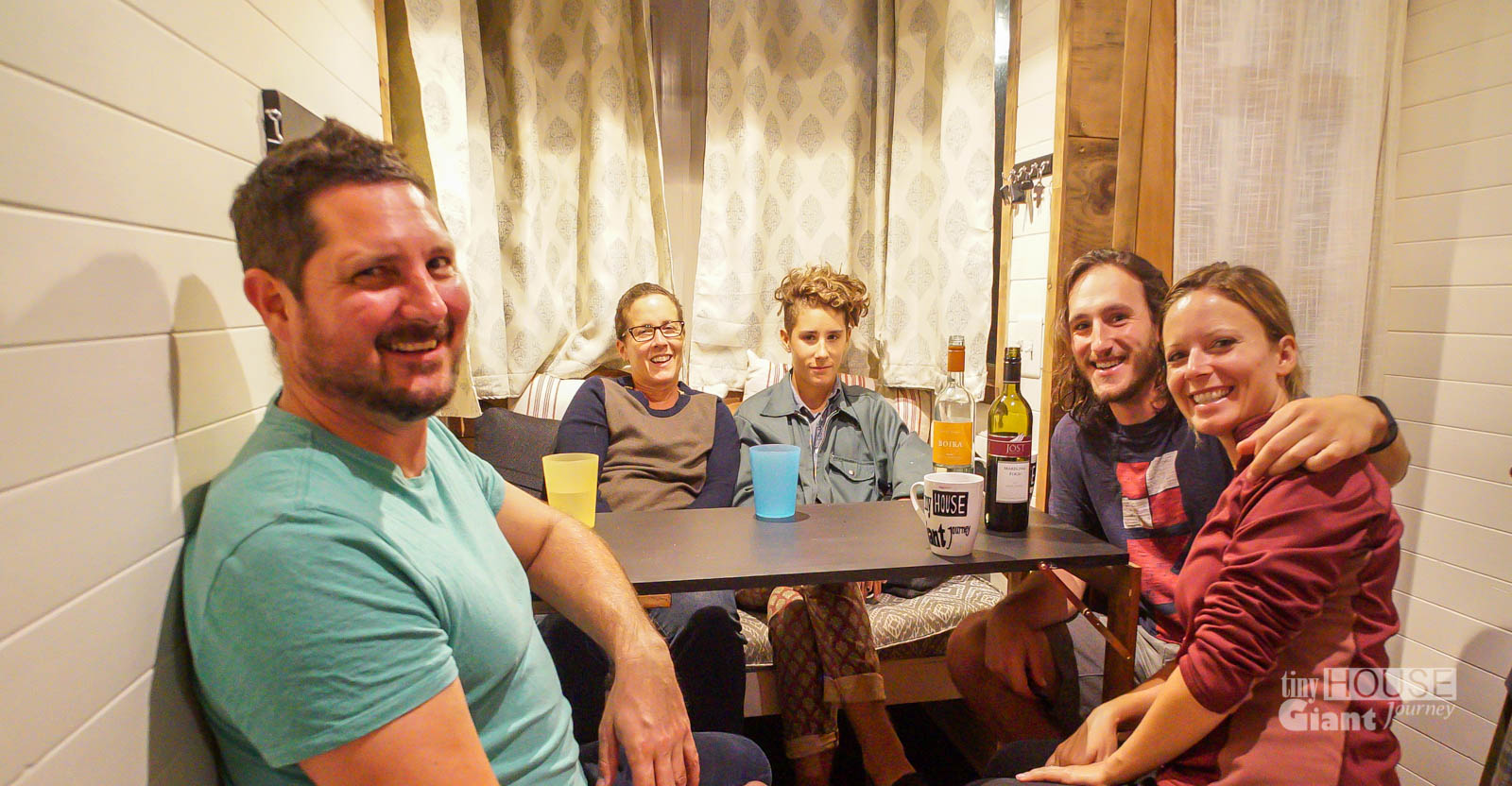 Party of Five! Dinner in the tiny house