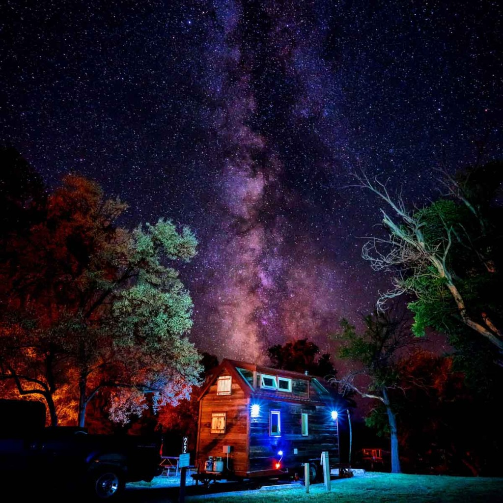 Bruneau Dunes State Park Tiny House Milky Way