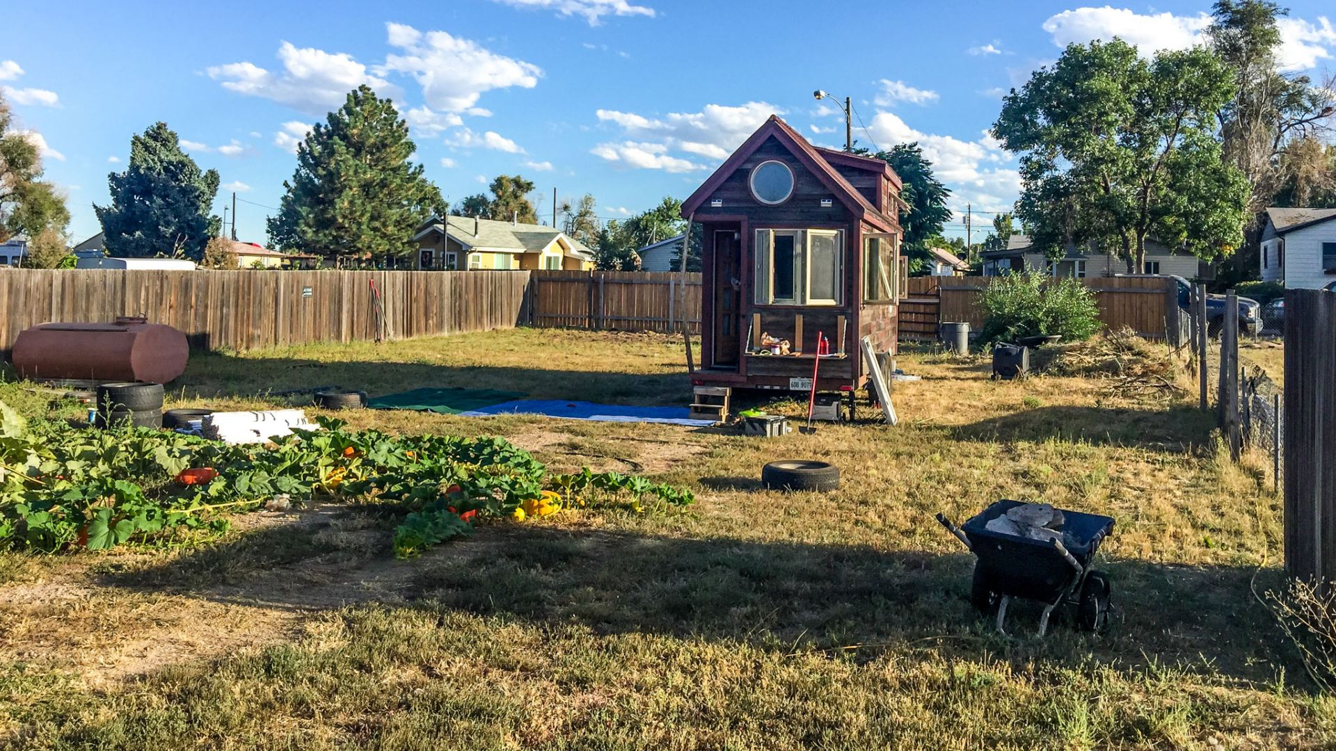 As We Maneuvered Into The Backyard, A Few Neighbors Came Out To Ask  Questions About Our Tiny House.