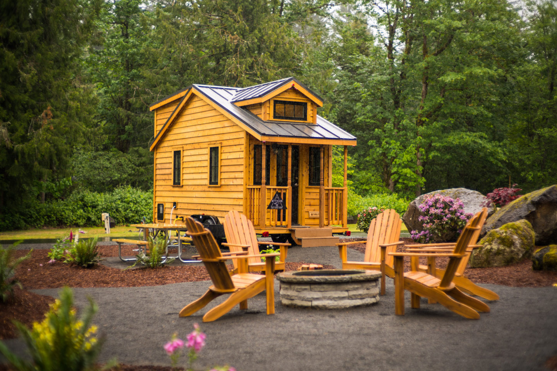 """Atticus"" Tiny House Rental at Mt Hood Tiny House Village"