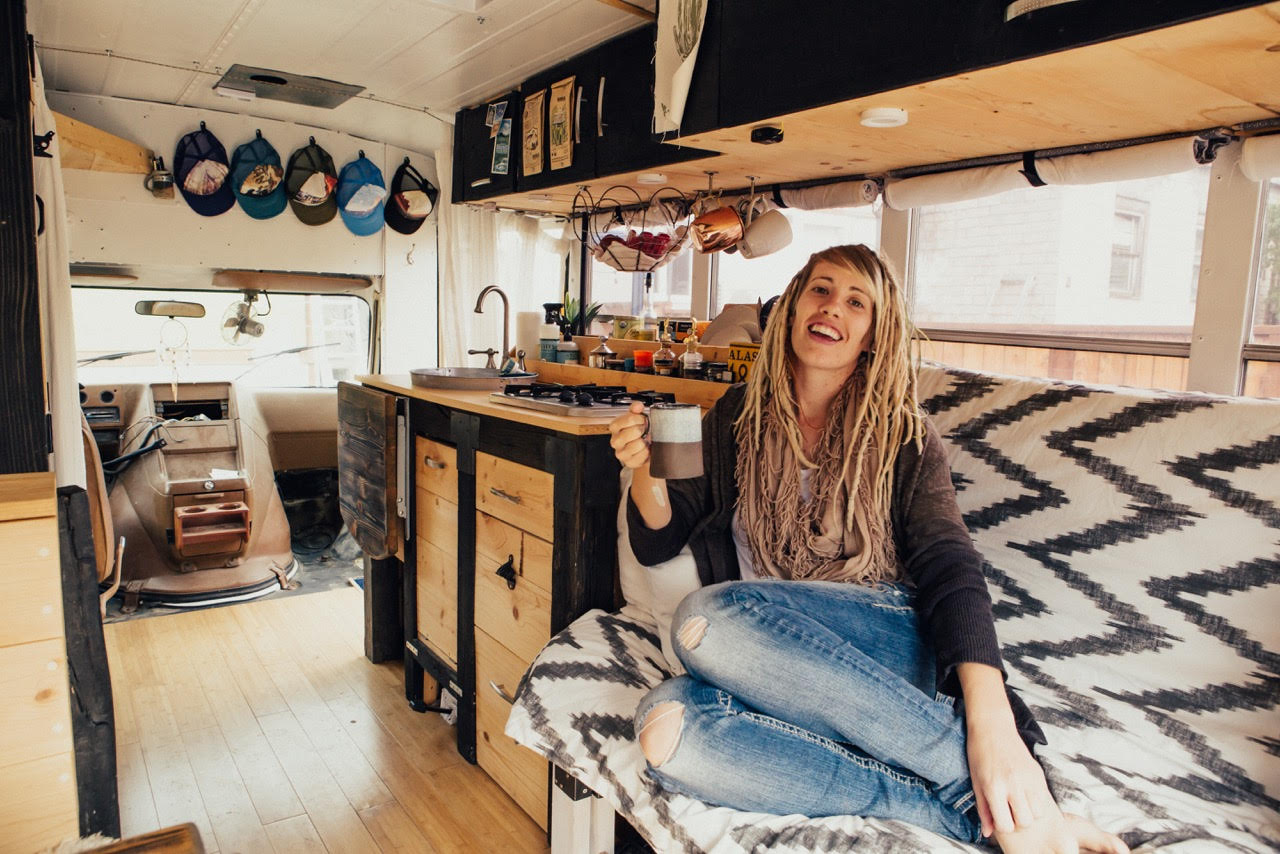 Heidi's Shabby Chic School Bus Conversion