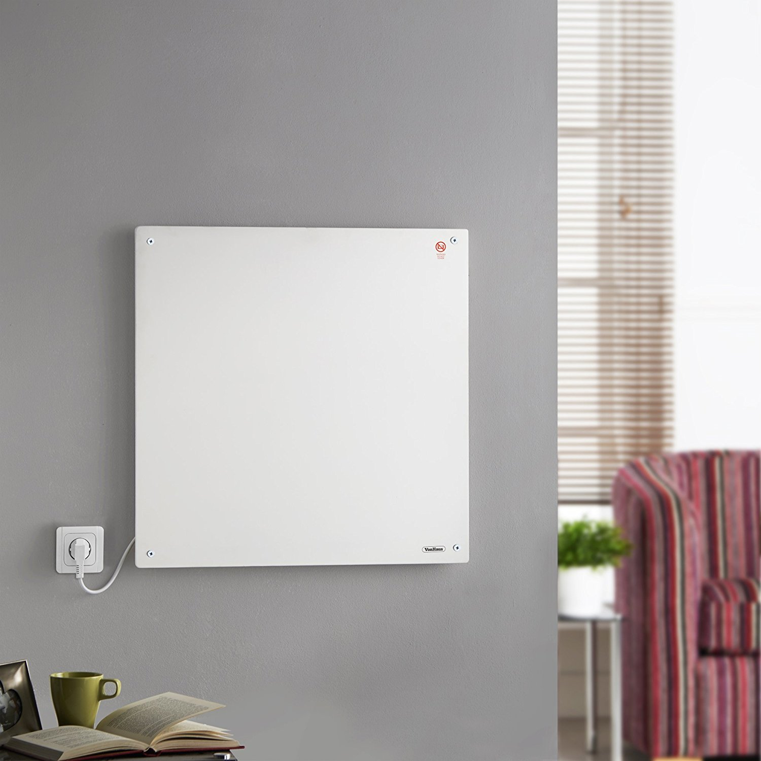 Wall Mounted 450w Electric Heater For Small Spaces