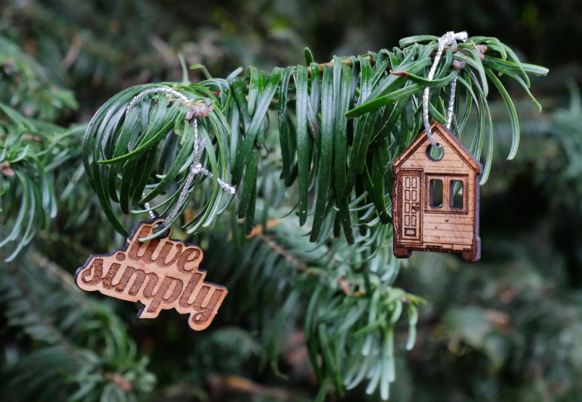 Tiny House tree ornaments