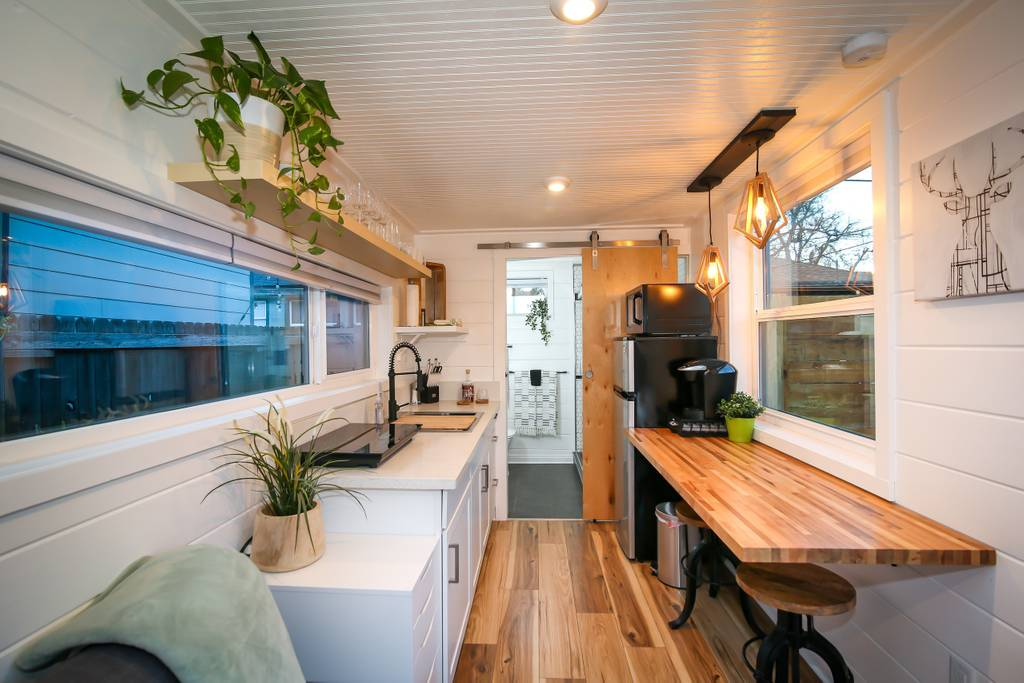 made interior design small homes made from shipping containers interior design Shipping Container Becomes Modern Backyard Additional Dwelling Unit