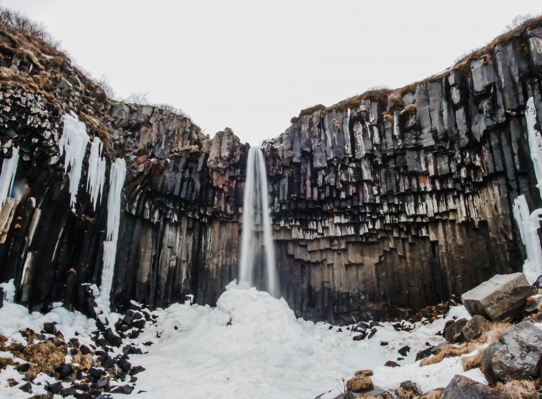 South Iceland Svartifoss Waterfall