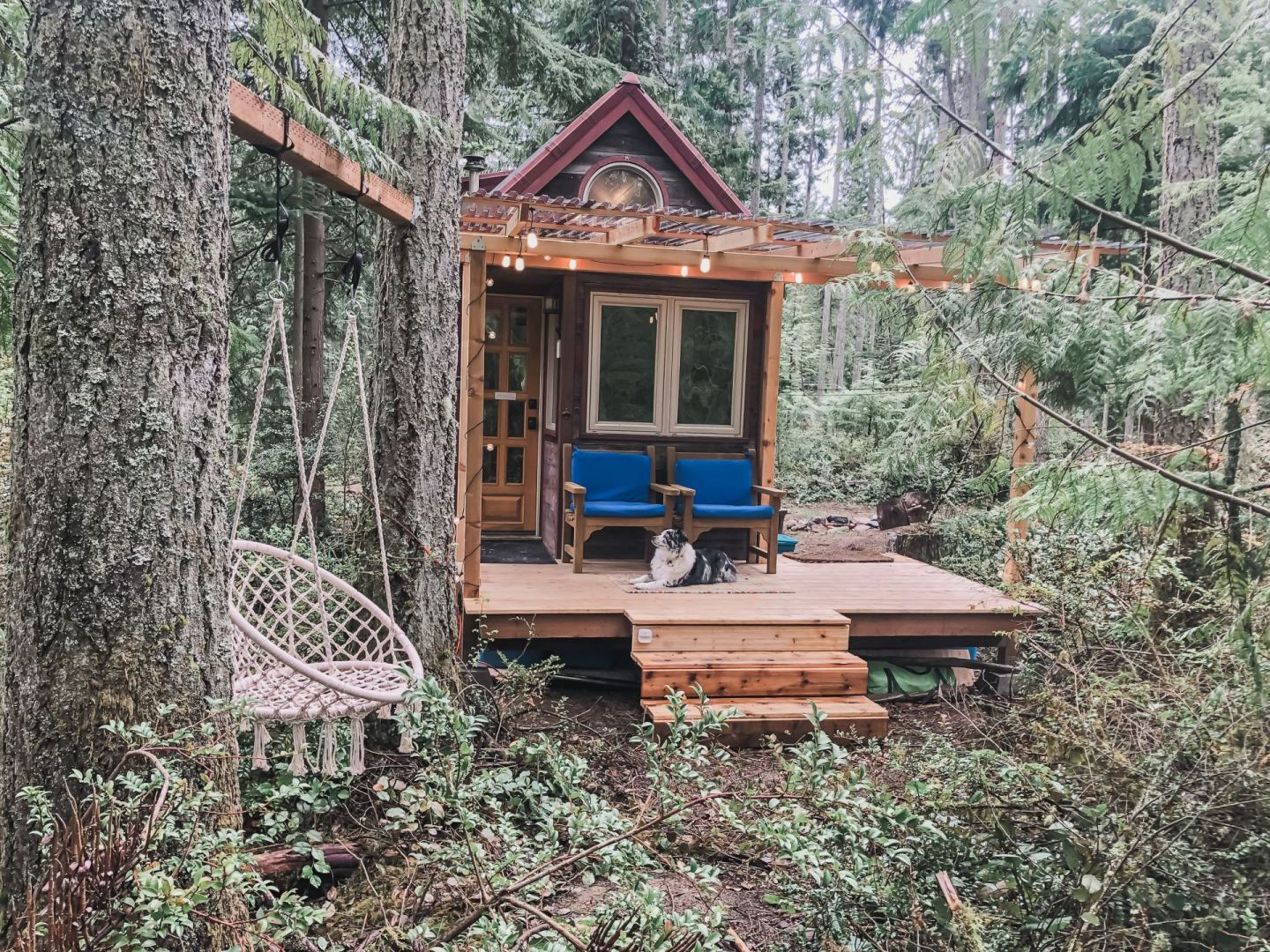 My New Tiny House Porch was Built for $2,000 in a Wooded Oasis Small Mobile Home Porch Plans Diy on deck plans, diy screened in back porch ideas, mobile home covered porch plans, diy decks and porches, double wide mobile home floor plans,