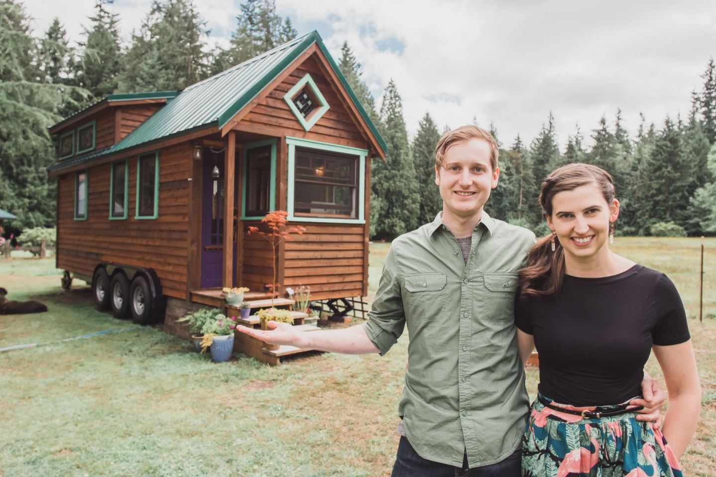 Craftsman Tiny House Built by Artsy Couple to Escape Rent