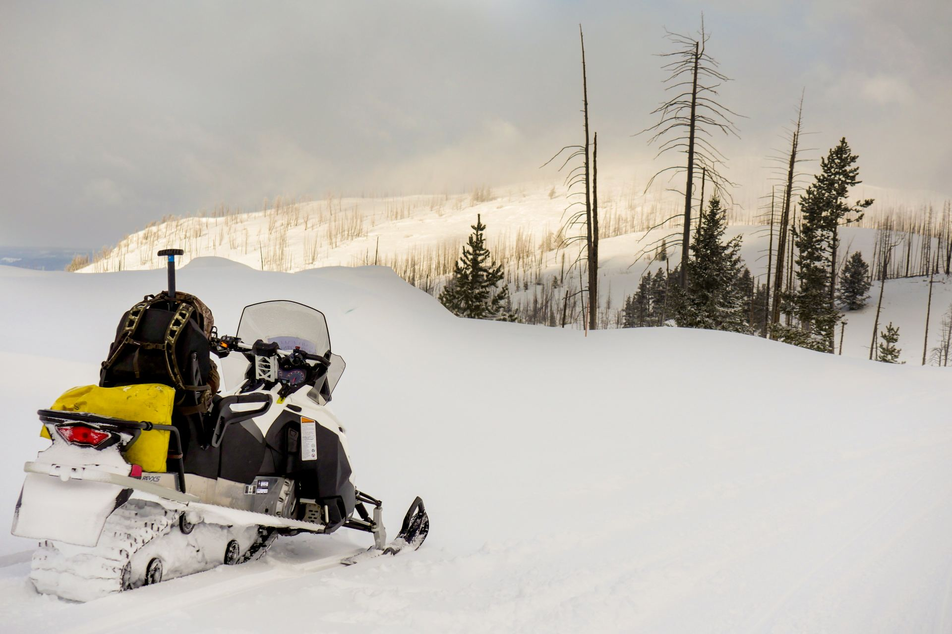 Snowmobile Yellowstone National Park