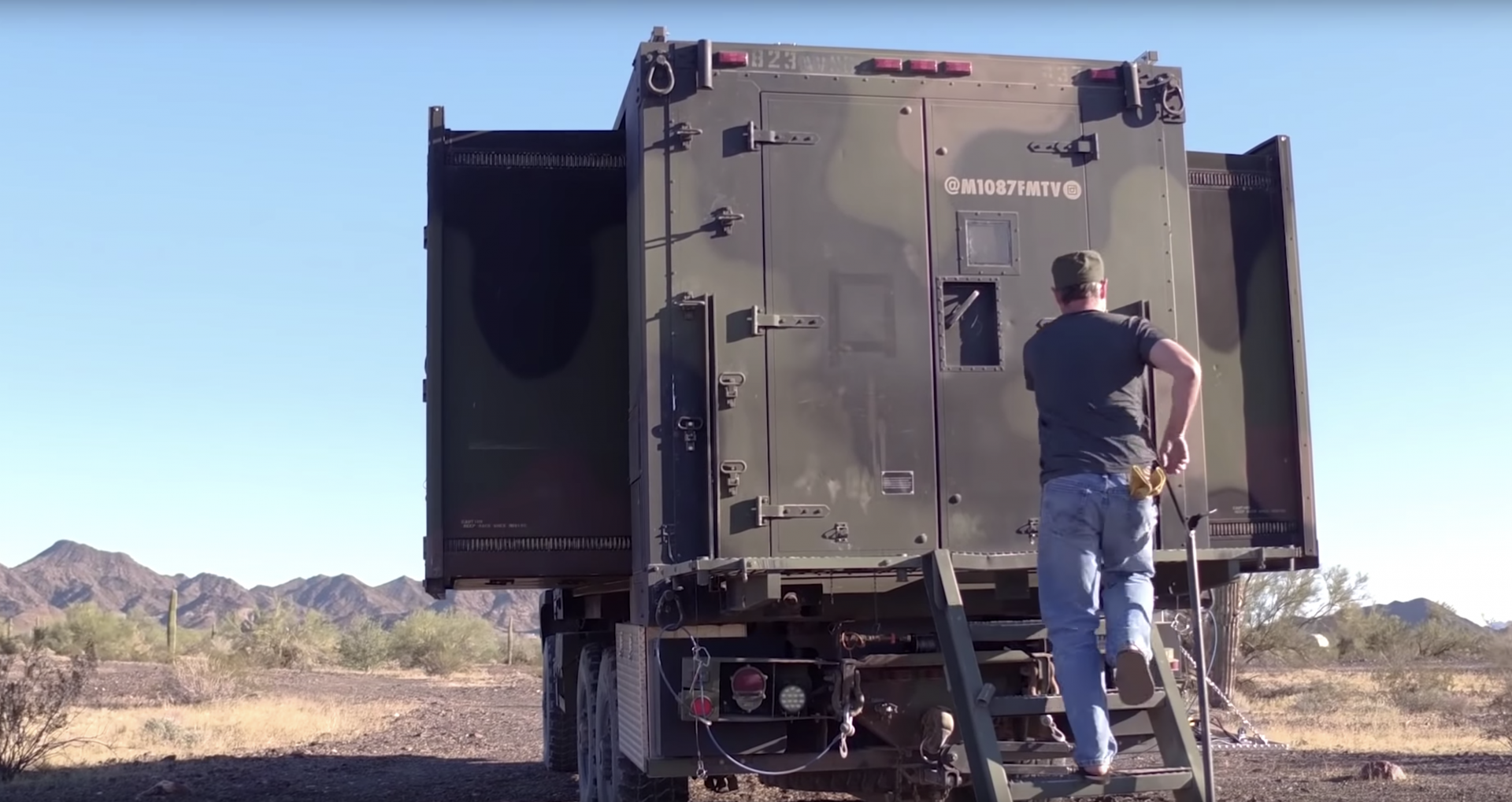 army truck tiny house