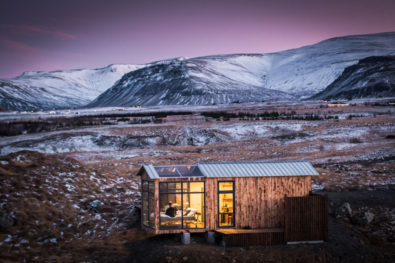 Panorama Glass Lodge Stay In This Gorgeous Icelandic Tiny House