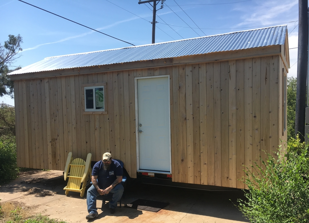 Robert and his tiny house