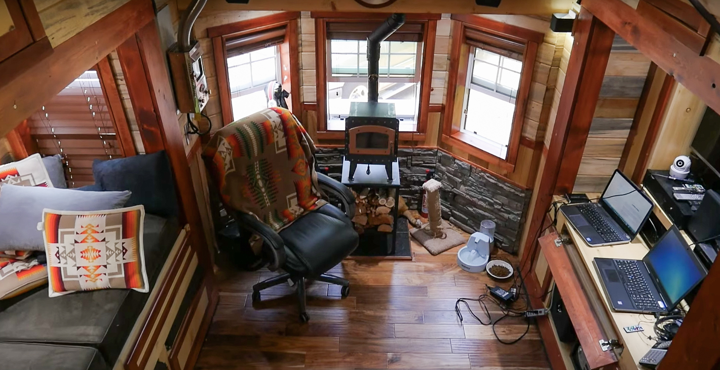 In The Summer Of 2017, He Finally Moved In And Now Parks At Mt. Hood Tiny  House Village.