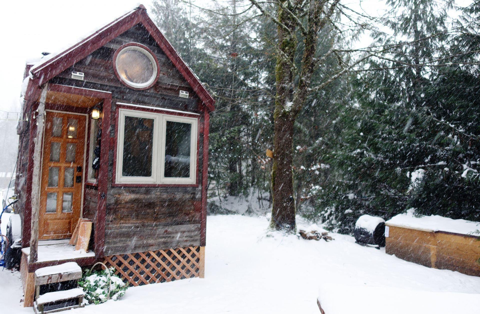 Winter in a tiny house 10 items that help me survive the cold for Winter cabin plans