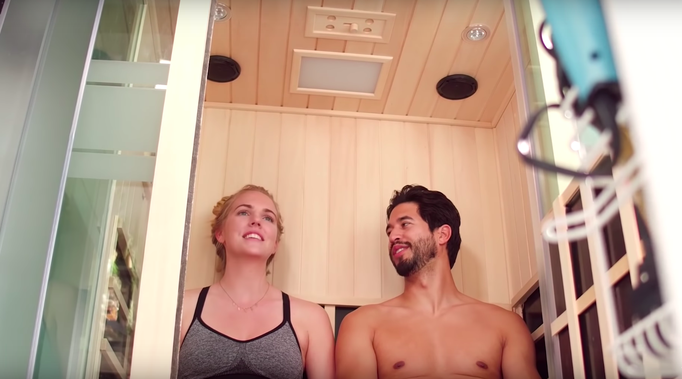 Their Tiny House has a Sauna!?